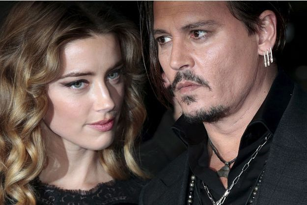 Johnny Depp et Amber Heard en octobre 2015.