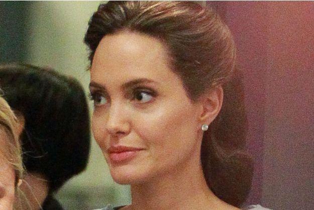 Angelina Jolie au siège de la BBC pour parler de la crise des migrants, le 16 mai 2016.