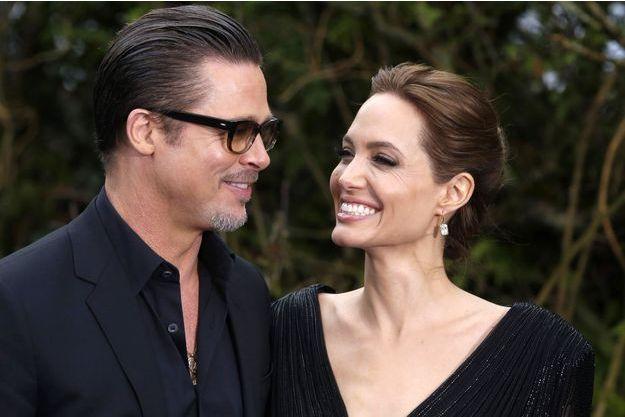Brad et Angelina, à Londres, le 8 mai 2014.