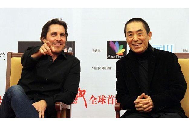 Christian Bale et le réalisateur Zhang Yimou.