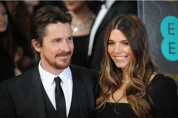 Christian Bale et Sandra Blazic au London Royal Opera House, le 16 février 2014, à Londres, au Royaume-uni.