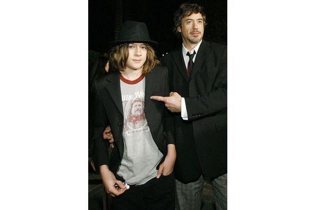 Indio et son père Robert Downey Jr. en 2007.