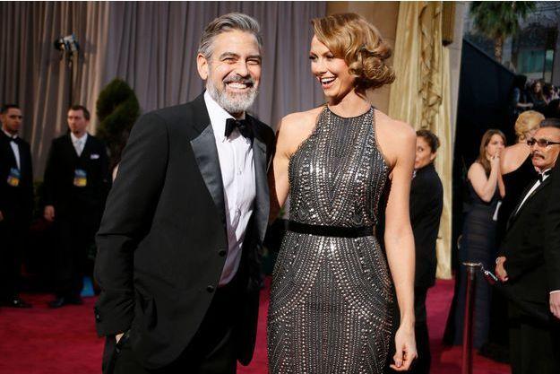 Stacy Keibler et George Clooney en février dernier.