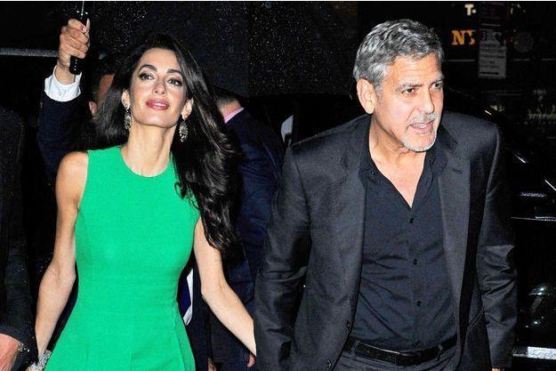 George Clooney et sa femme Amal Clooney à New York le 29 septembre dernier.