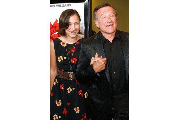 """Zelda et Robin Williams à l'avant-première du film """"World's Greatest Dad"""", à Los Angeles, en 2009."""