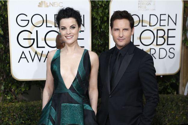 Jaimie Alexander et Peter Facinelli arrive aux Golden Globe le 10 janvier 2016.