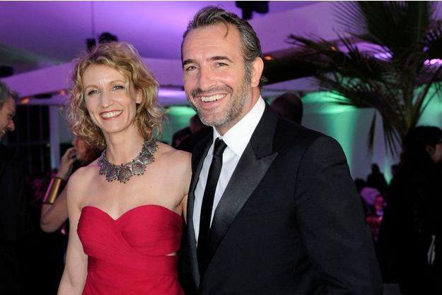 Alexandra Lamy et Jean Dujardin au festival de Cannes en 2012.