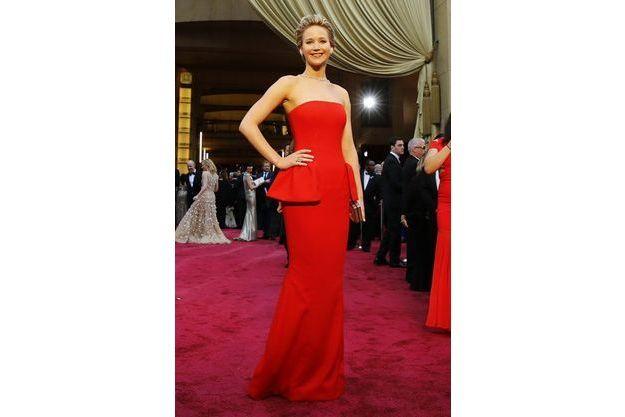 Jennifer Lawrence, dimanche à la cérémonie des Oscars.