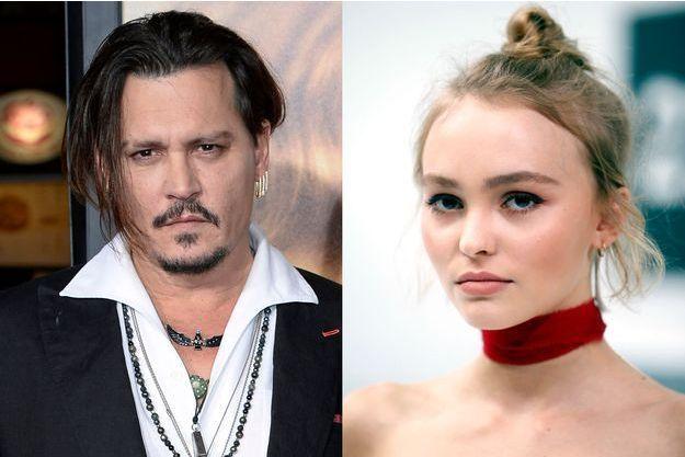 L'acteur Johnny Depp et sa fille, Lily-Rose, aujourd'hui âgée de 16 ans.