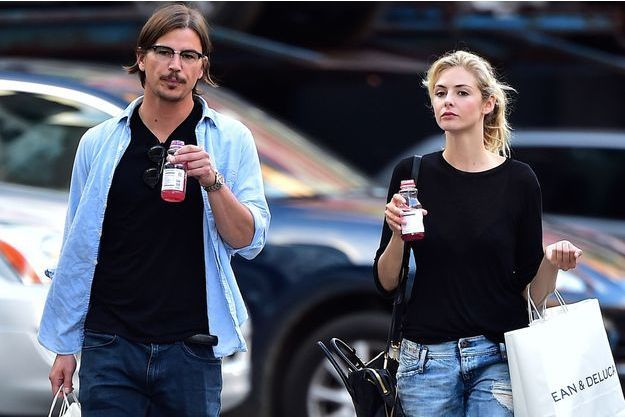 Josh Hartnett et Tamsin Egerton à New York en août 2014.
