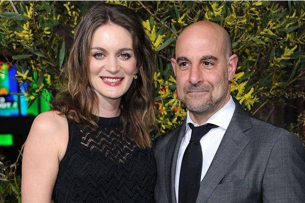 L'acteur Stanley Tucci et sa femme, Felicity Blunt, à Los Angeles en février 2013