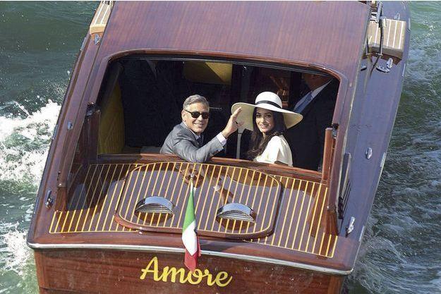 Amal et George Clooney, les mariés de l'année.