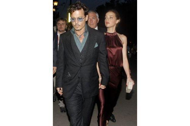 La fête de fiançailles de Johnny Depp et Amber Heard