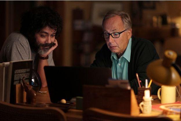 """Manu Payet et Fabrice Luchini dans """"Un début prometteur"""" d'Emma Luchini, un film basé sur le roman de Nicolas Rey."""