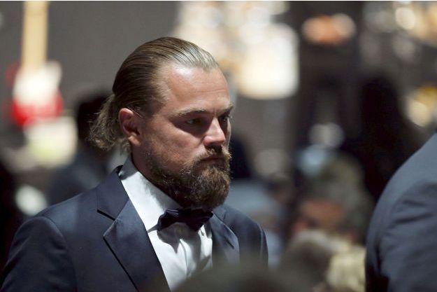 Leonardo DiCaprio, jeudi soir, à la soirée de l'AmFAR.