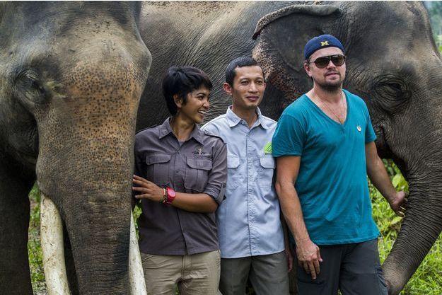 Leonardo DiCaprio sur l'île de Sumatra
