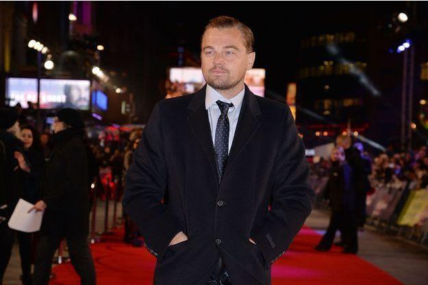 Leonardo DiCaprio à Londres le 14 janvier.