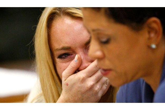 Lindsay Lohan, à l'annonce du verdict
