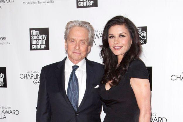 La dernière apparition publique de Michael Douglas et Catherine Zeta-Jones en couple, le 22 avril dernier, à New York.