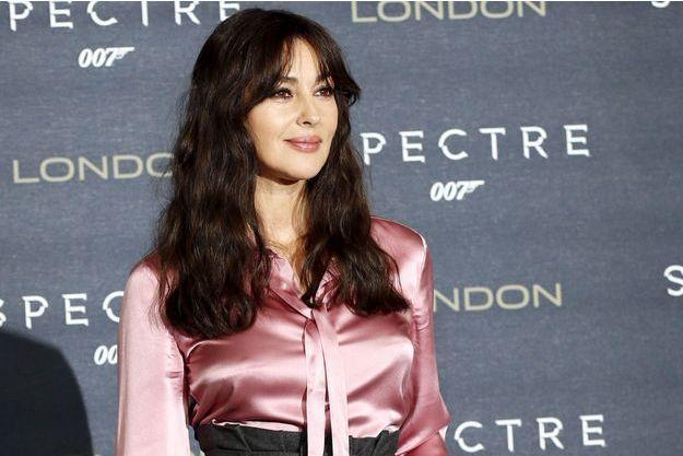 "Monica Bellucci à la projection londonienne de ""Spectre"" le 22 octobre 2015."
