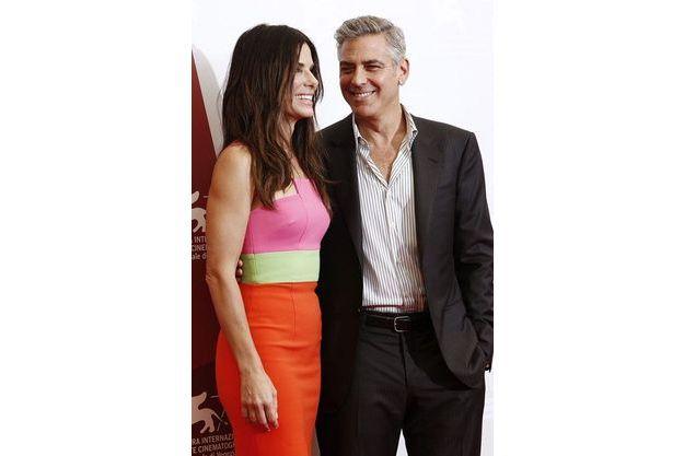 Sandra Bullock et George Clooney à Venise