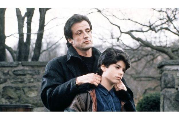 """Sylvester Stallone et son fils, dans """"Rocky 5""""."""