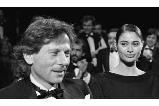 Roman Polanski et Charlotte Lewis au Festival de Cannes, en 1986, pour «Pirates».