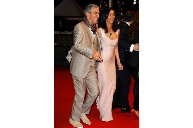 Samy Naceri et son ex-compagne Audrey, à Cannes.