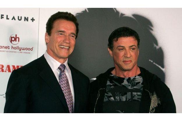 Arnold Schwarzenegger & Sylvester Stallone en 1998