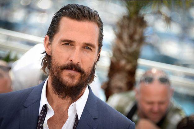 """Matthew McConaughey au photocall du film """"La Forêt des songes"""" à Cannes, le 16 mai"""