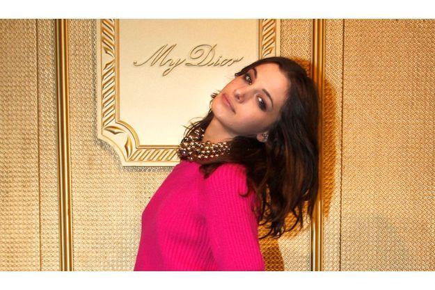 """Sonja Kinski, le dimanche 4 mars 2012, dans les salons de l'hôtel Salomon de Rothschild à Paris pour la soirée """"My Dior""""."""