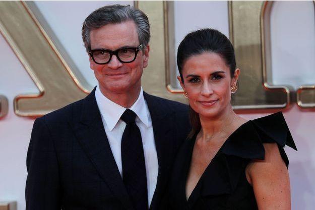 Colin Firth et sa femme Livia Giuggiolo en septembre 2017.