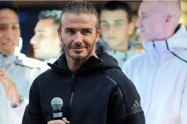 David Beckham à l'ouverture d'une boutique Adidas à Milan, le 29 septembre.