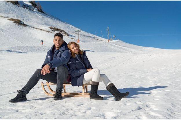 Estelle Mossely et Tony Yoka ont pris une semaine de vacances à la neige, à La Plagne dans les Alpes.
