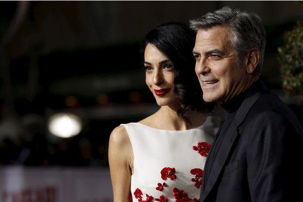 Amal et George Clooney.