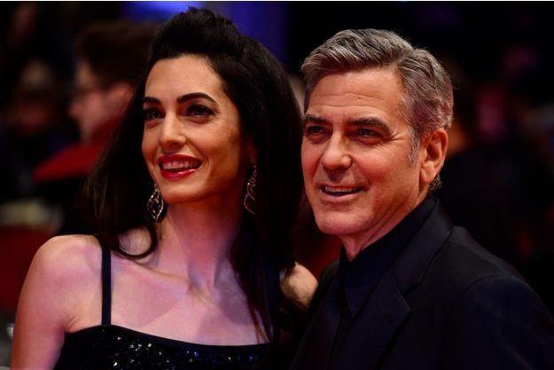 George et Amal Clooney, le 11 février 2016.