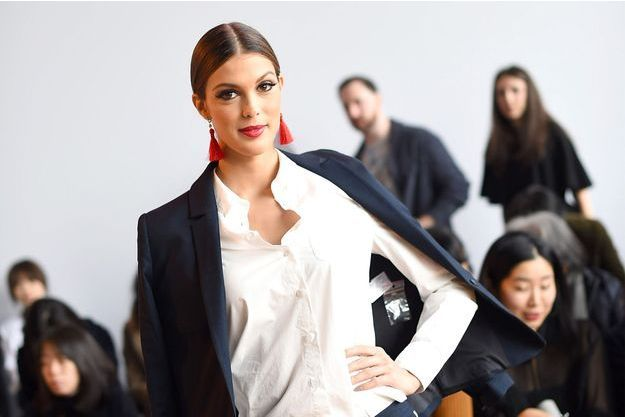 Iris Mittenaere lors de la Fashion Week de New York.