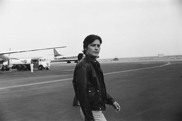 Alain Delon à Nice en 1968.