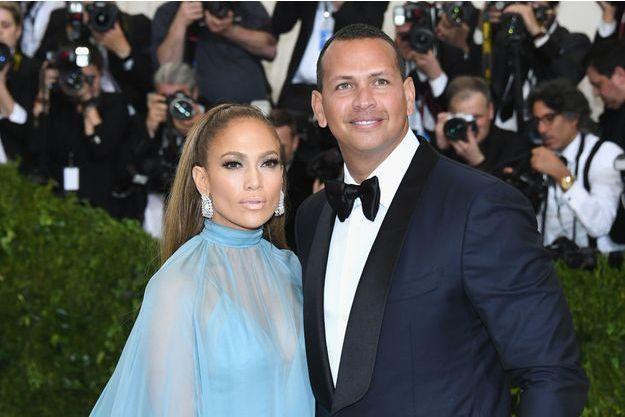 Jennifer Lopez et Alex Rodriguez à New York, le 1er mai 2017.