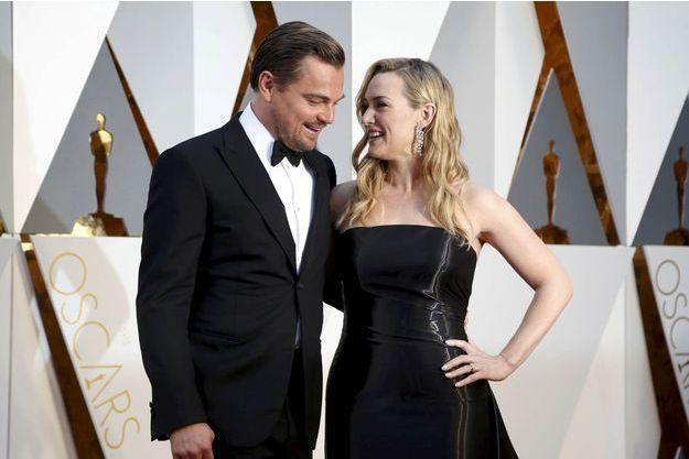 Kate Winslet et Leonardo DiCaprio le 29 février 2016.
