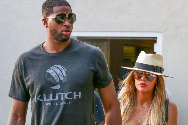Khloe Kardashian et Tristan Thompson à Los Angeles, le 5 juillet 2017