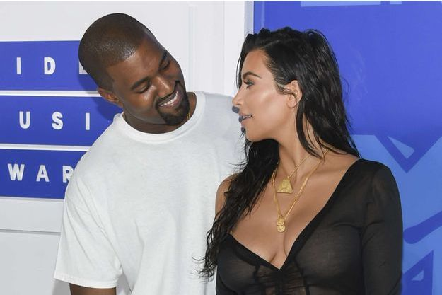 Kim Kardashian et Kanye West, le 26 août 2016 à New York.