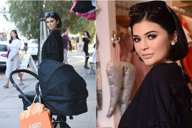 La poupée de cire de Kylie Jenner dans les rues de Hollywood.