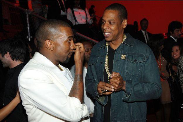Kanye West et Jay-Z au festival de Cannes en mai 2012.