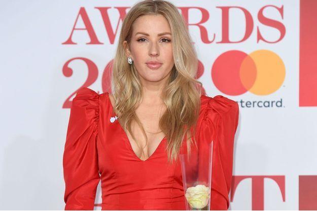 Ellie Goulding, le 21 février 2018 aux Brit Awards, à Londres.
