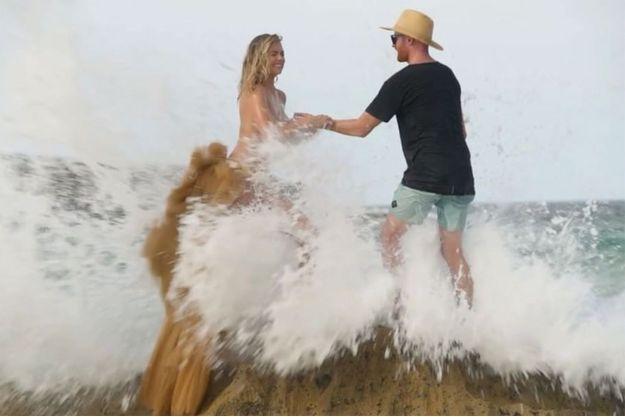 """Kate Upton pendant le shooting pour """"Sport Illustrated"""" à Aruba"""