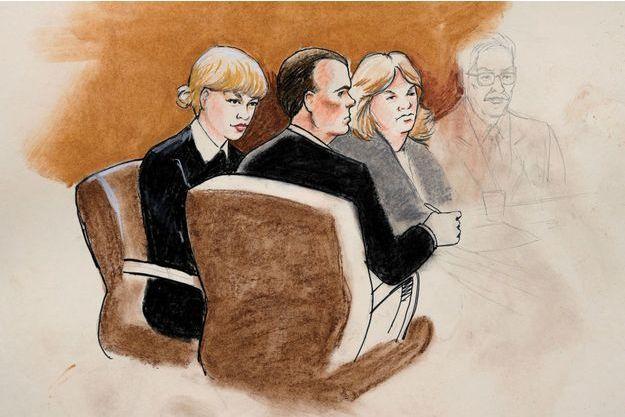 Taylor Swift durant le procès, le 8 août 2017.