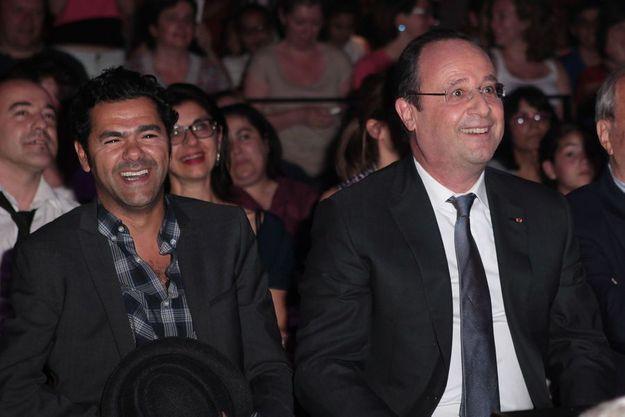 Jamel Debbouze aux côtés de François Hollande le 20 mai 2014.