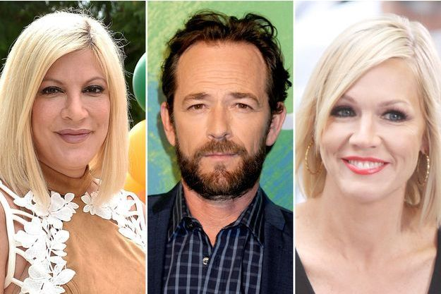 Tori Spelling, Luke Perry et Jennie Garth