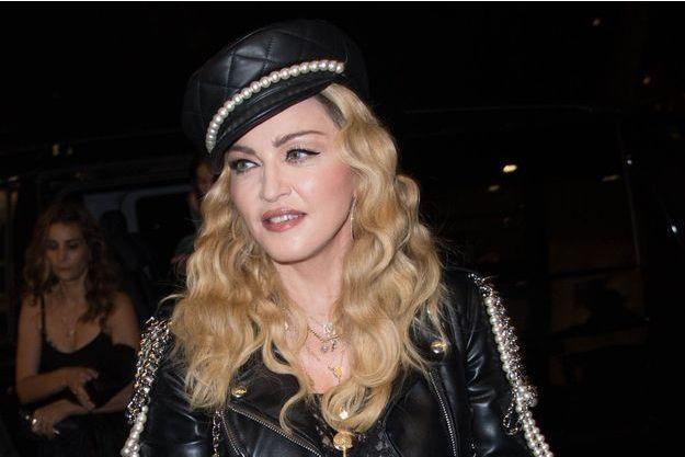 Madonna à Londres, le 27 octobre 2016.